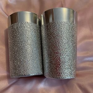 Silver Glittery Tealight Candle Holders